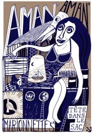 Aman' Aman' • Paille • @ La Tête dans la sac - marionnettes